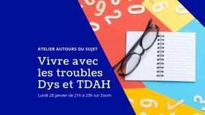 atelier en ligne zèbre TDAH dys