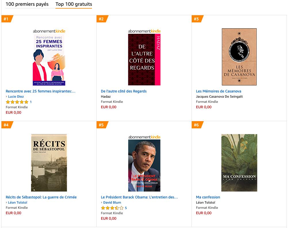 n°1 ventes amazon obama