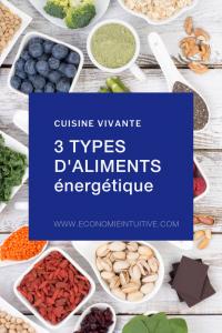 3 types d'aliments