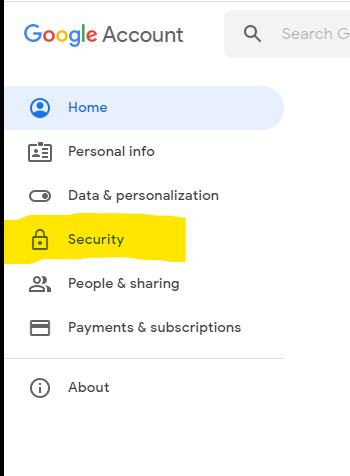 comment sécuriser les données sur google